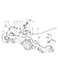ac genuine mopar line brake 2003 jeep grand cherokee brake lines hoses rear and chassis diagram 00i71985
