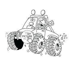 Truck Coloring Pages Free Monster Trucks Coloring Pages Monster