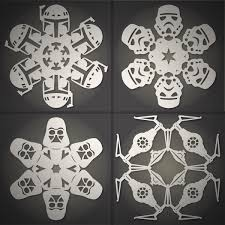 Snow Templates How To Make Diy Star Wars Snowflakes Free Templates Man Made