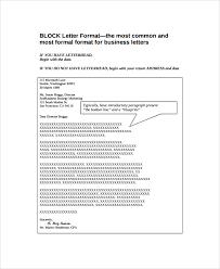 Block Letter Format