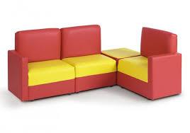 corner sofa in red yellow