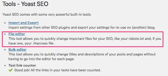 How to edit .htaccess through Yoast SEO? - Yoast Knowledge Base