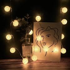 Bulb Fairy Lights Amazon Com Nesee 20 Led Globe String Lights Battery