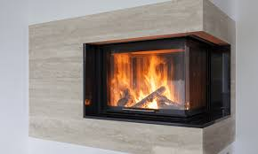 an electric fireplace on a house wall