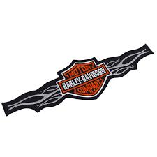 harley davidson embroidered patch emblem bar shield wide large