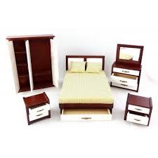 image modern bedroom furniture sets mahogany. Dolls House Modern Mahogany \u0026 White Double Bedroom Furniture Set  Miniature Image Modern Bedroom Furniture Sets Mahogany I