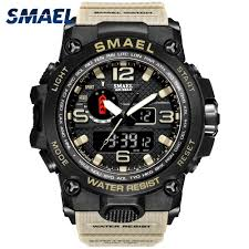 <b>Men</b> Military <b>Watch 50m Waterproof</b> Wristwatch LED Quartz Clock ...