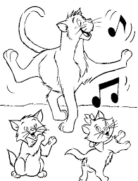 Kids N Fun Coloring Page Aristocats Aristocats Aristocrats