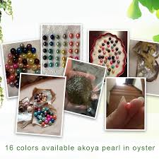 CLUCI Round Black White 6 7mm Akoya Pearl Bead 16 Colors ...