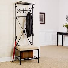 Coat Rack Bench With Mirror Hall Tree Bench Narrow Entryway Storage Coat Hat Rack Small Mirror 53
