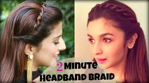 Simple Hairstyles For College Cute Easy 2 Min Everyday Headband Braid For School College