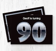 90 Birthday Party Invitations 90th Birthday Party Invitations