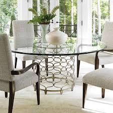 stylish glass top dining table home decor regarding round set design 4