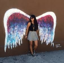 photo of magnolia bakery los angeles los angeles ca united states colette on angel wings wall art los angeles address with colette miller angel wings located right outside the bakery