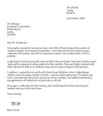 Follow Up Letter After Interview Example 25 Thank You Sample Letters