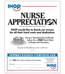 Ihop Local Store Marketing Nurse Appreciation Letter
