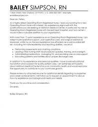 Rn Cover Letter Sample Cloperating Room Registered Nurse Healthcare