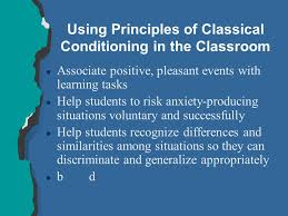 Classical Conditioning In The Classroom Behavioral Views Of Learning Chapter 6 L Relatively