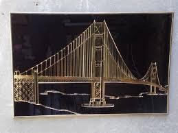 gold black golden gate bridge metal wall art on golden gate bridge metal wall art with gold black golden gate bridge metal wall art apartment therapy