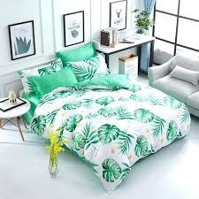 leaf duvet cover palm uk set tropical all size single designer printed new bedding frond