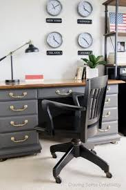 patriotic masculine office makeover complete with world clock wall display patriotic decor an antique