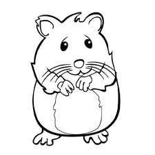 A coloring page of a family of hamsters in their cage. Hamster Coloring Pages Learny Kids