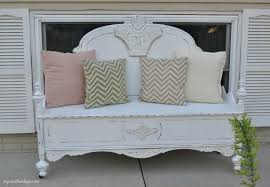 Headboard Bench Plans Repurposed Bed Makes Charming Bench My Creative Days