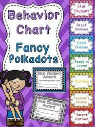 Star Student Chart Behavior Clip Chart System Glitter Polkadots Polka Dot Behavior Chart