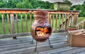 chiminea clay outdoor fireplace with oven