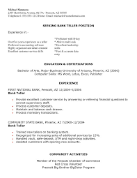 resume samples for bank teller entry level bank teller resume internship accounting sample for