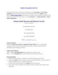 Resume Format For Hotel Job Impressive Hotel Resume format Download About Hotel Job Resume 60