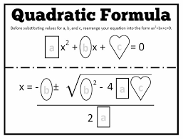 this week my algebra 2 students started solving quadratics using the quadratic formula wednesday i passed out one of my favorite homewor