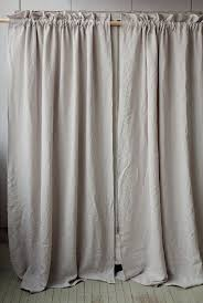 stonewashed linen curtain with rod pocket 9 colours by magiclinen