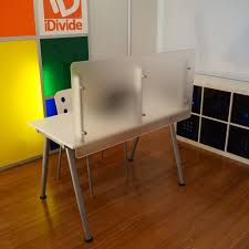great desk divider ikea table quot wide x high desktop privacy screen panel i k e a for office