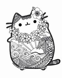 Best Pusheen Coloring Pages Super Coloring Page