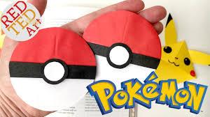 easy pokeball bookmark pokemon go origami paper crafts collab with natasha lee pokeball nails you