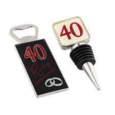 amore 40th ruby wedding anniversary gift set bottle opener stopper