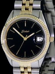 two tone black dial jubilee a4508t blk belair men sport wrist watch click