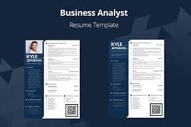 Business Analyst Modern Resume Template Editable Resume Business Analyst Creativewo Business