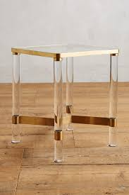 oscarine lucite end table  anthropologie