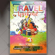 Travel Weekend Seasonal Flyer Psd Template