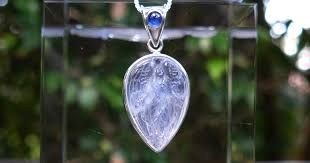 moonstone guardian angel pendant with blue sapphire by pedro