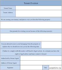 Tenant Eviction Form : Sample Forms
