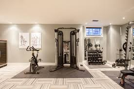 ... Attractive Flooring For Exercise Room In Basement Funky Fresh Basement  Contemporary Home Gym Toronto ...