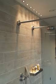 Shower lights at the Lakes contemporary-bathroom
