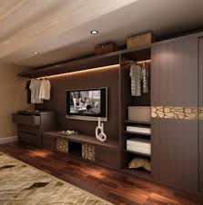 bedroom wooden tv wall unit with closet entertainment units