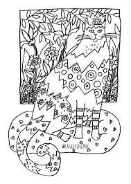 Small Picture Cat Coloring Page For Adults Busy Cats Pinterest Cat
