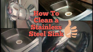 How To Clean Stainless Steal How To Clean Your Kitchen Sink How To Clean Stainless Steel Sink