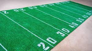 how to make a football field rug diy