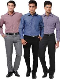 Shirts And Pants Buy Combo Of 3 Brotons Ready To Stitched Mens Shirts And